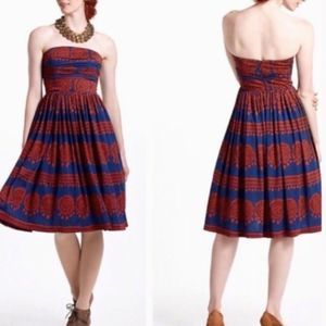 Anthropologie Girls from Savoy Strapless Dress